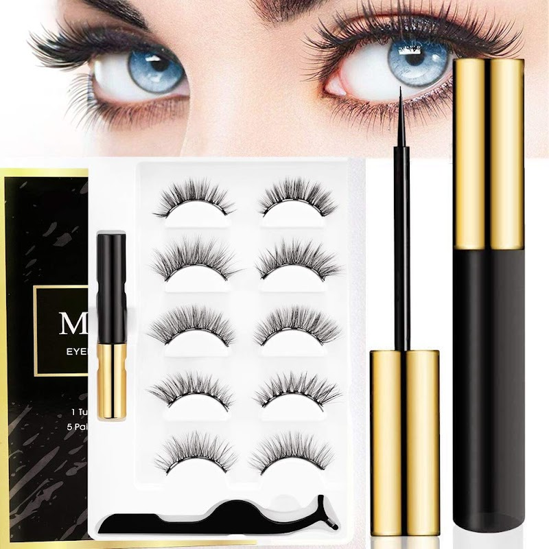 40%  5 Style Reusable Magnetic Eyelashes with Eyeliner Kit