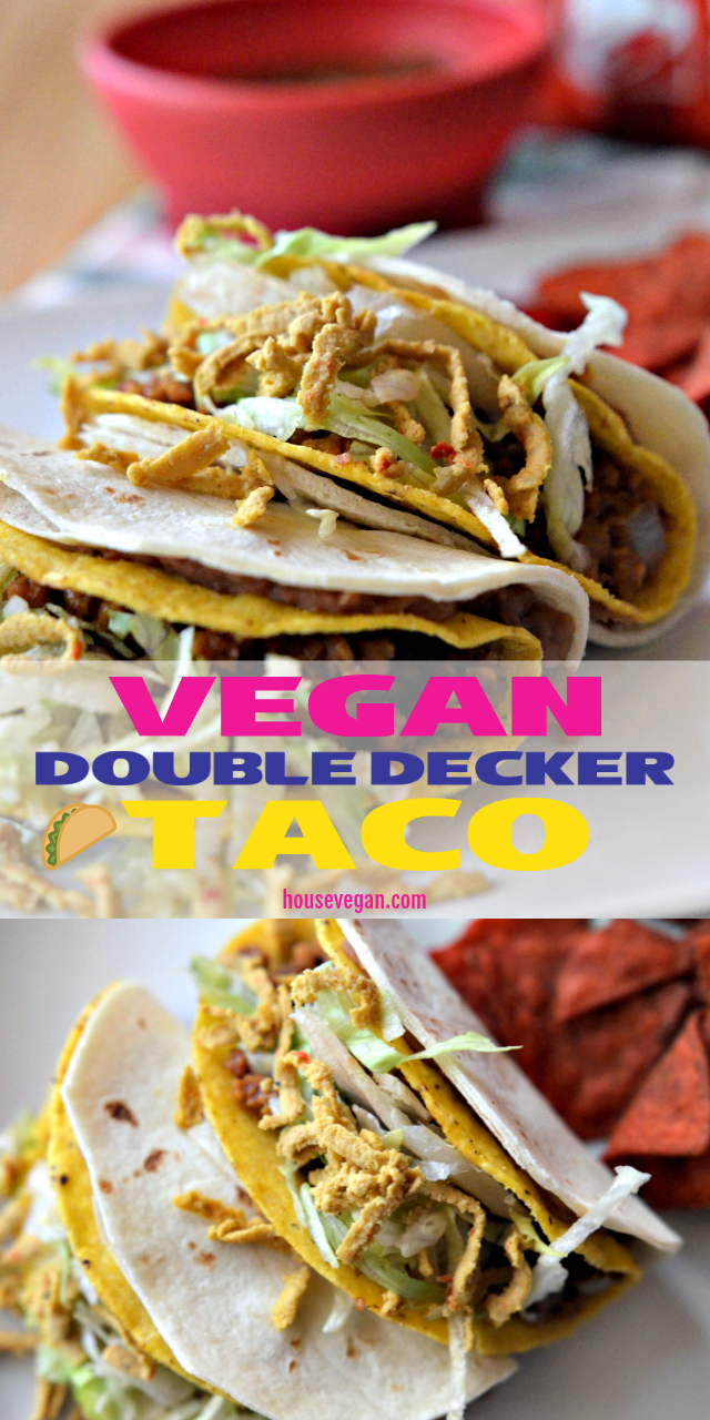 vegan double decker taco bell, vegan double decker tacos, diy double decker taco, double decker taco recipe, double decker taco bell recipe, double decker taco recipes, taco bell double decker taco recipe, double decker tacos recipe, vegan taco bell recipe, vegan taco bell meat recipe, vegetarian vegan taco bell recipes, vegan taco bell recipes, 90s recipes, 90s dinner recipes, 90s themed recipes, 90s food recipes, 90s party food recipes, 90s party recipes