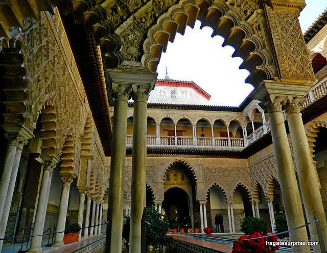 Pátio das Donzelas, no Real Alcázar de Sevilha
