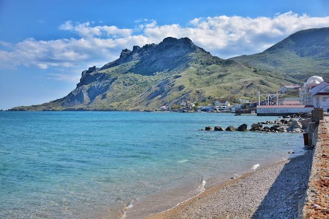 пляж в Крыму Коктебель