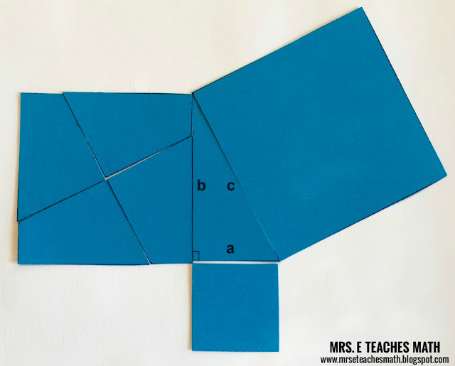 Perigal's Puzzle: A Pythagorean Theorem Proof Without Words | mrseteachesmath.blogspot.com