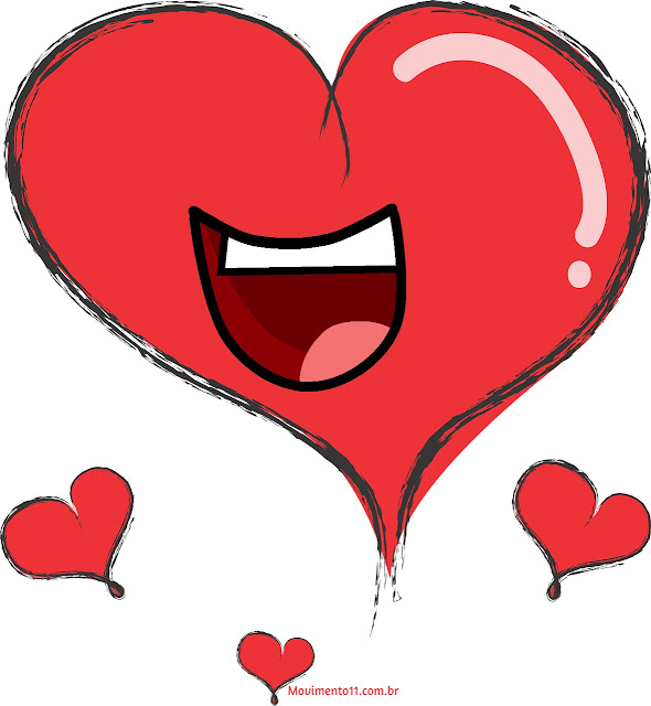 Coração sorrindo