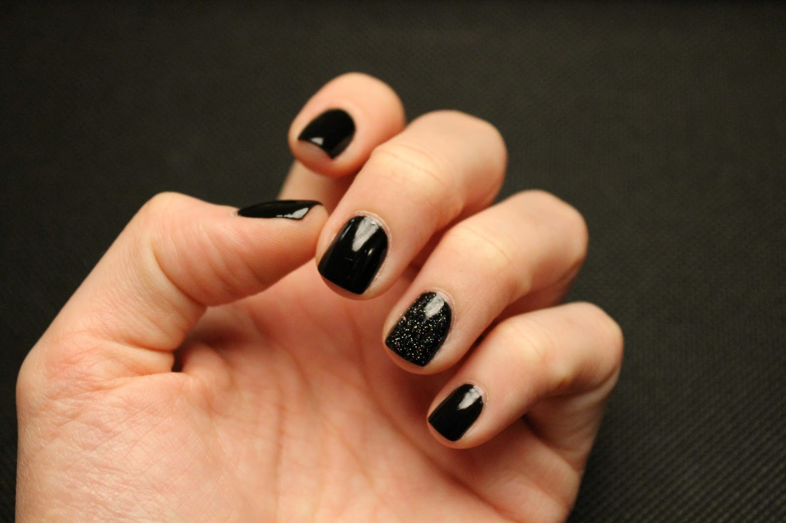 Black Square Nails!