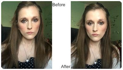 before and after primark ps strobing highlighter cream
