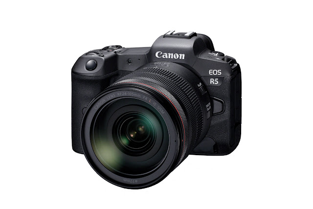 Canon EOS R5 with lens mounted