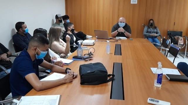 A SECOM da Prefeitura de Águas Lindas de Goiás, realiza treinamento com assessores de pastas do Governo Municipal