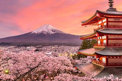 Pagoda Japonia góra Fuji