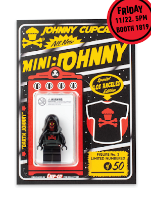 Designer Con 2019 Johnny Cupcakes LEGO Mini Figures by The Minifig Co. – Darth Johnny, Dissect Johnny & LA LeJohnny