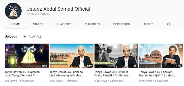 Alamat Website & Sosial Media Ustadz Abdul Somad Resmi (Official)