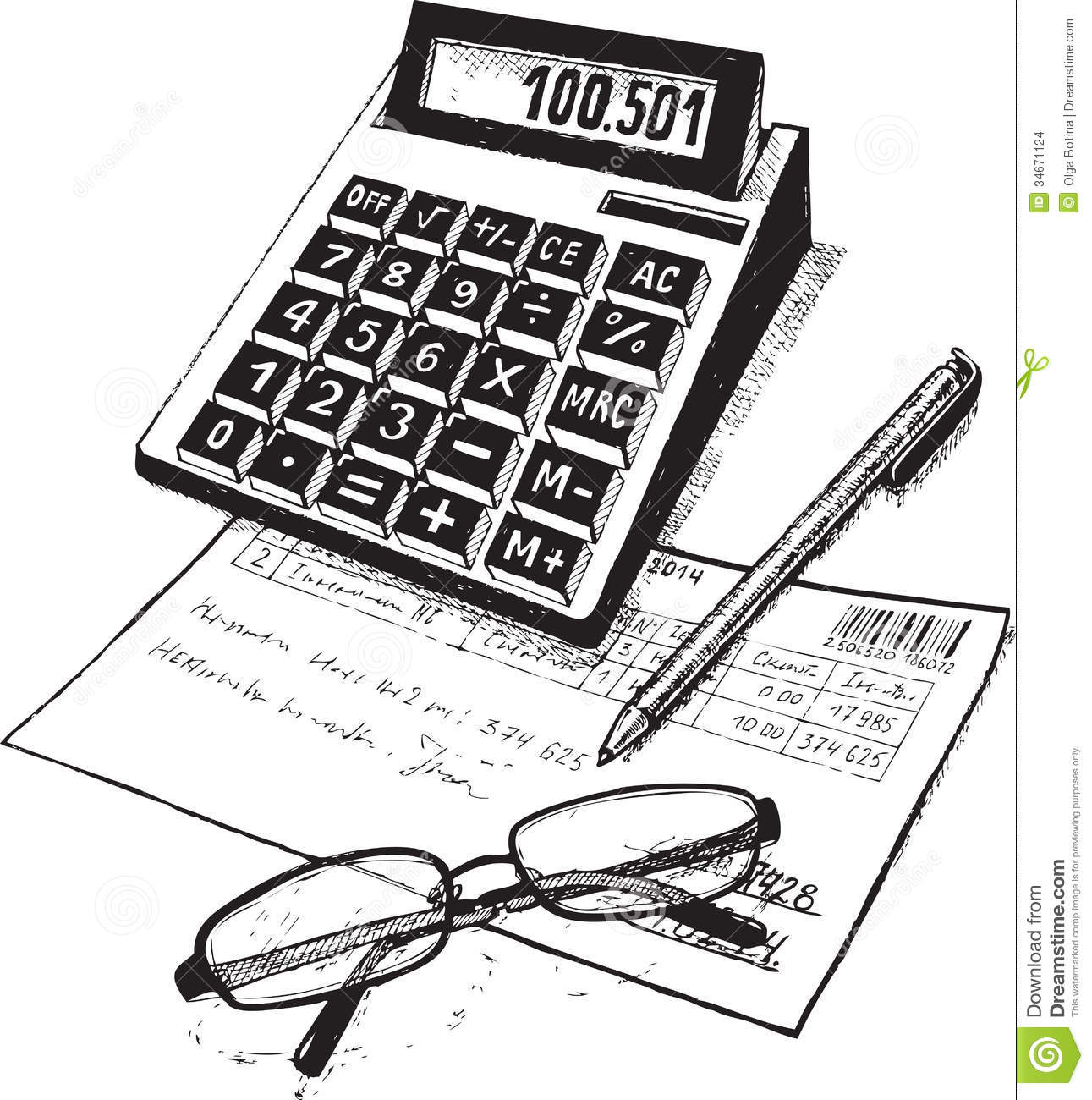Accounting Bookkeeping Clip Art