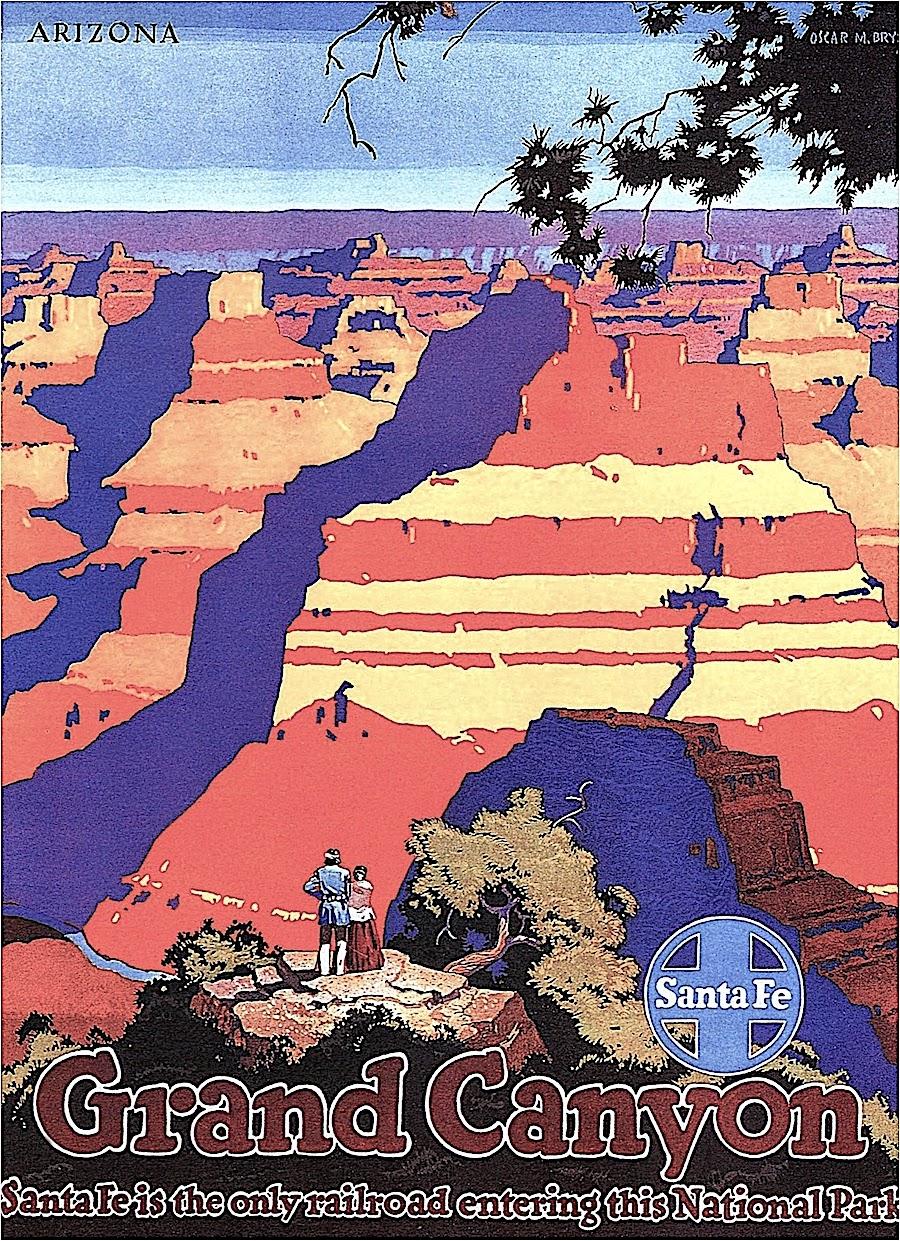 an Oskar M. Bryn 1949 poster illustration of the Grand Canyon