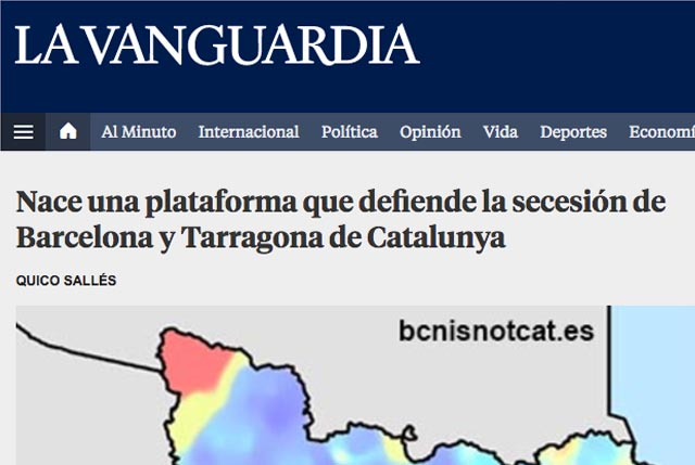 Tabarnia es noticia en La Vanguardia
