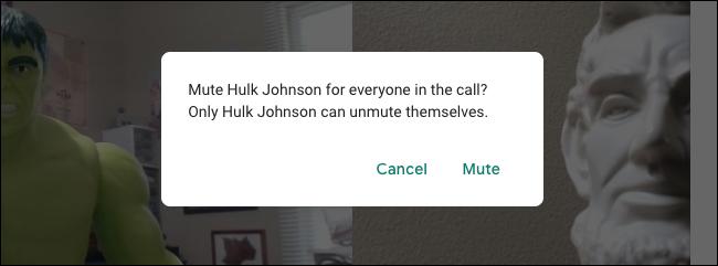 تحذير Google Meet Mute