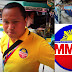 A man identified himself as MMDA staff attempts to fine LRT passengers