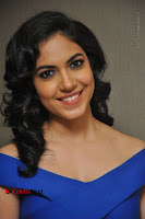 Actress Ritu Varma Pos in Blue Short Dress at Keshava Telugu Movie Audio Launch .COM 0021.jpg