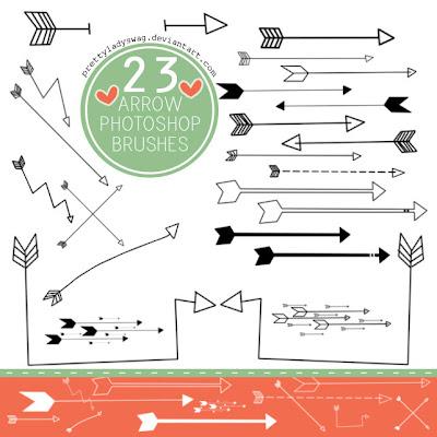 23 pinceles de flechas gratis Photoshop