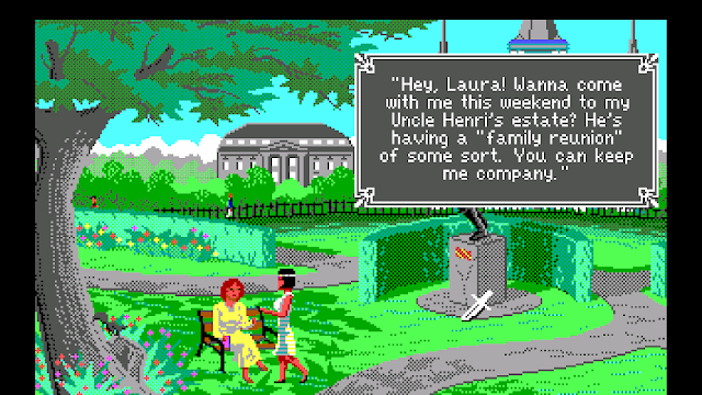 Screenshot of Laura Bow and Lillian from The Colonel's Bequest