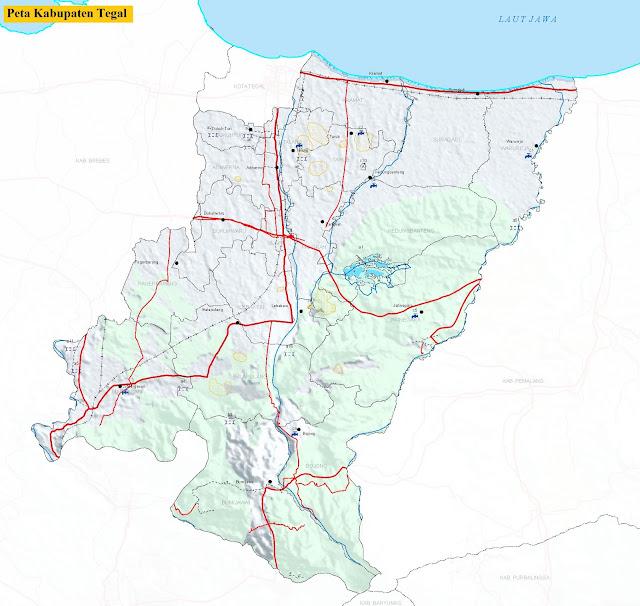 Peta Kabupaten Tegal HD