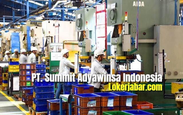 Lowongan Kerja PT. Summit Adyawinsa Indonesia 2020