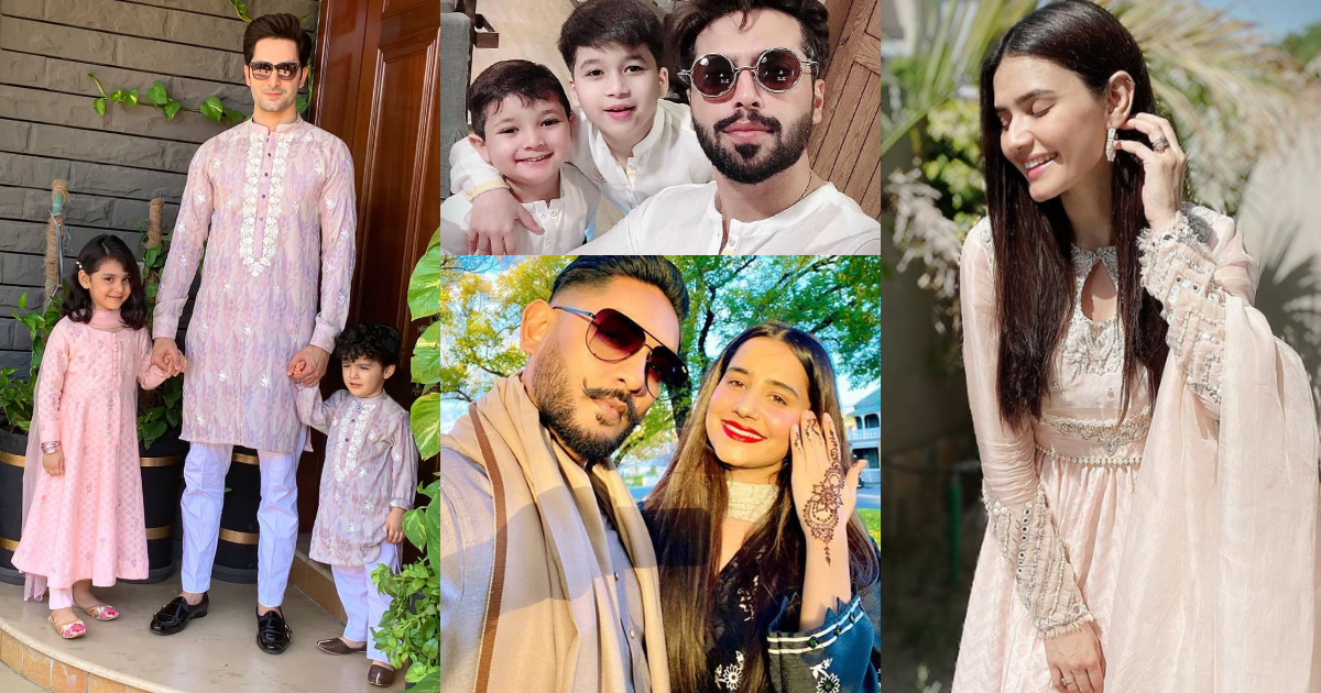 Awesome Pictures of Pakistani Celebrities on Eid Day
