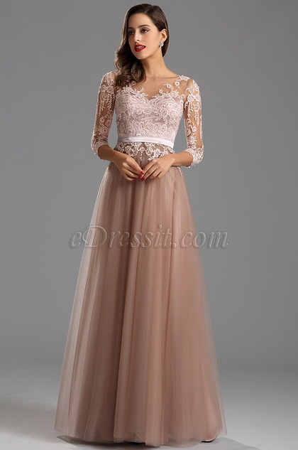 Kleid lang mit langen armeln