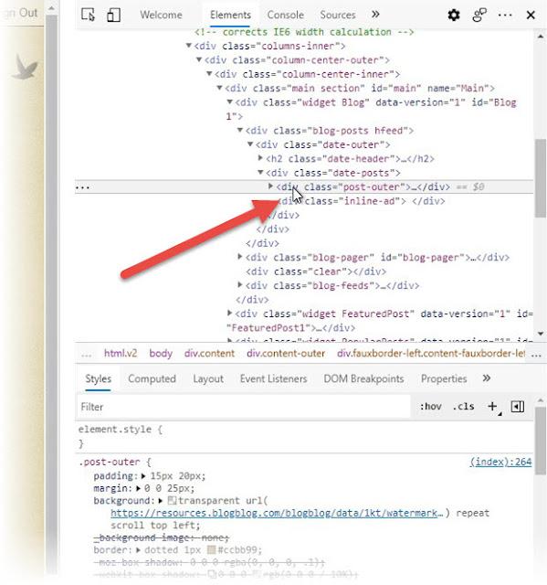 Identify Blog Container Alternate