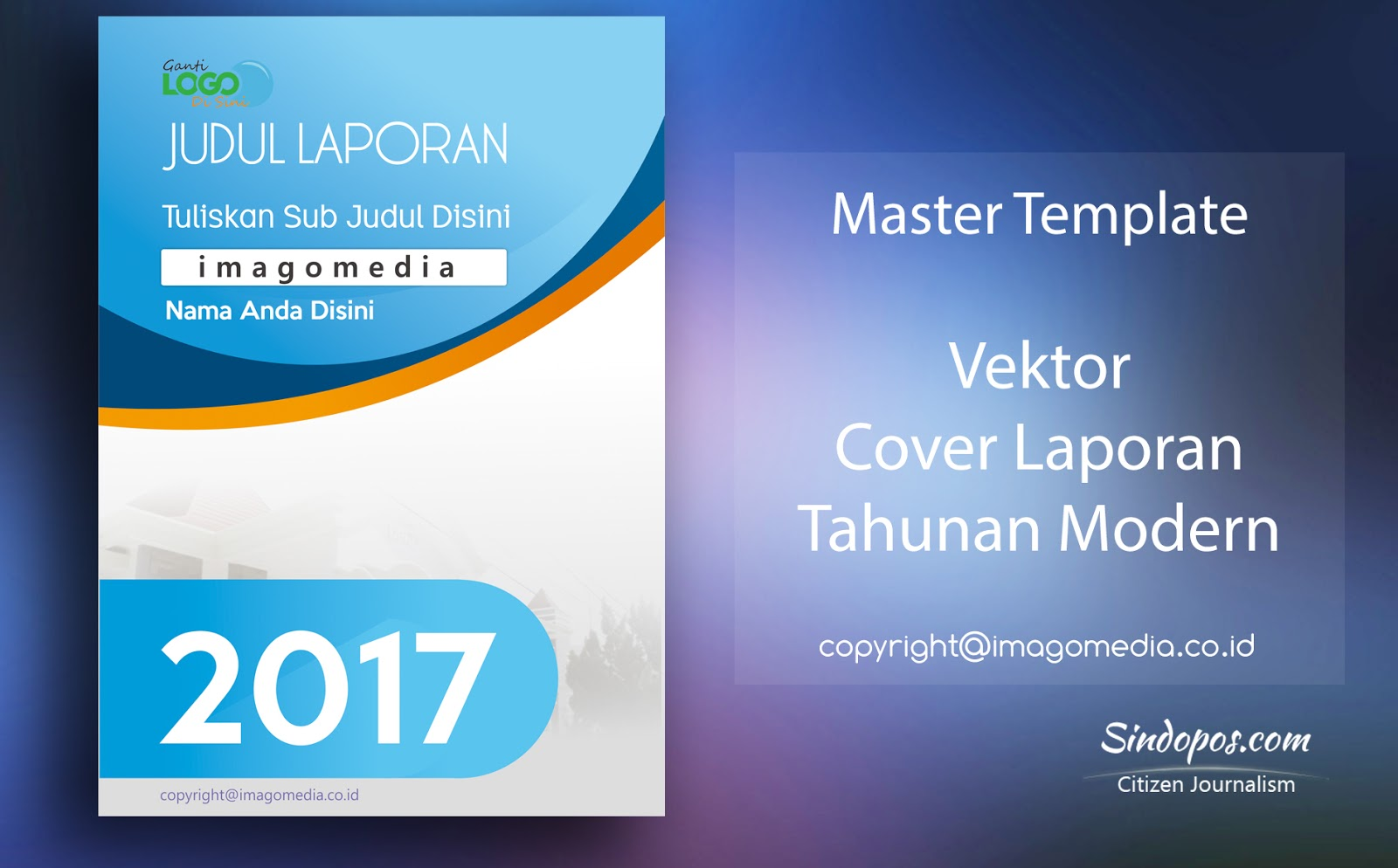 download cover laporan tahunan modern