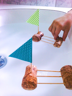 Barchette diy , gioco per bambini