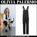 03114df1feea Read More · Olivia Palermo in black leather overalls and white shirt Olivia  Palermo on the set