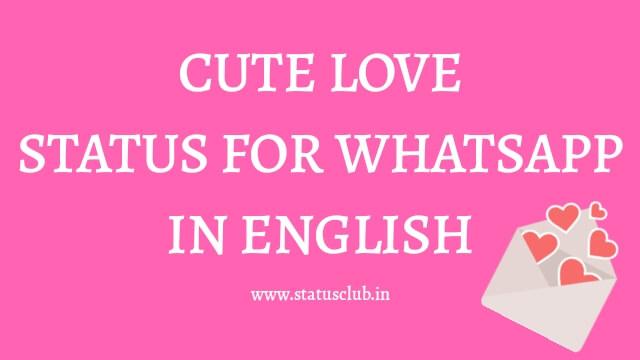 Cute Love Status in English