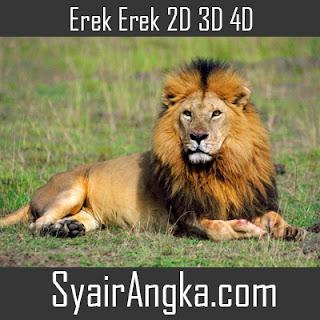 Erek Erek Singa 2D 3D 4D di Buku Mimpi dan Kode Alam