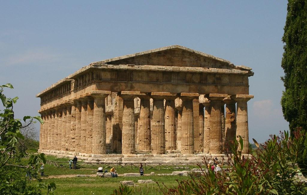 Храм Посейдона в городе Пасейдония (Пестум), Равелло, Италия