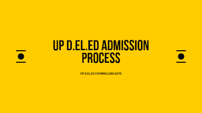 UP D.EL.ED Admission 2019
