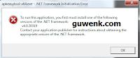 cara mengatasi net framework initialization error