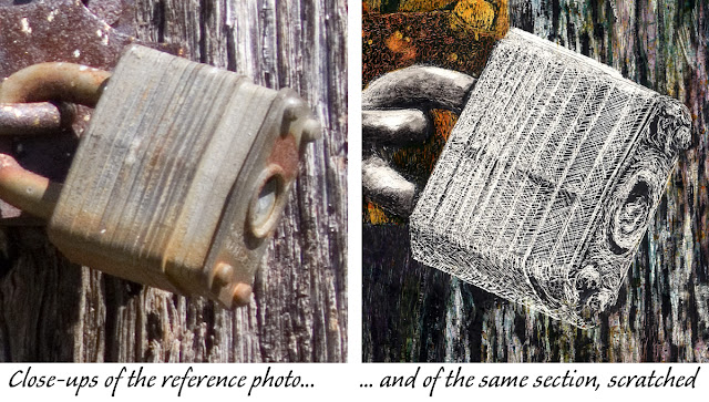 close ups of the lock