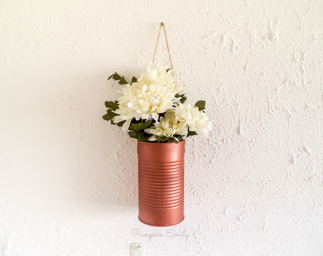 DIY Tin Can Hanging Planter