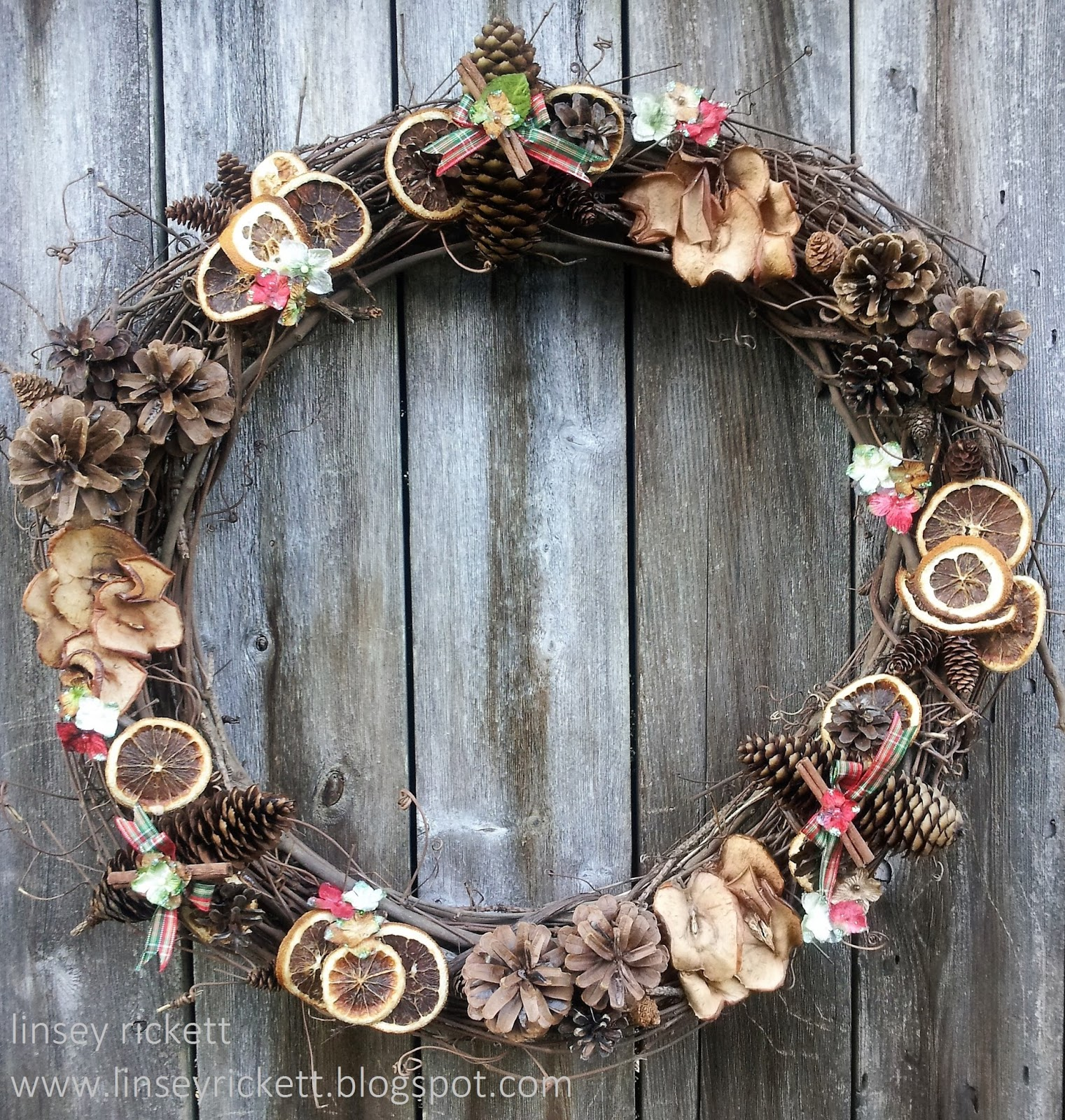 Really Reasonable Ribbon Blog Diy Pinecone Dried Fruit Wreath