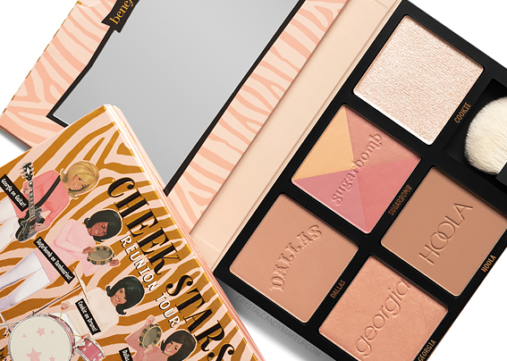 Benefit Cheek Stars Reunion Tour Cheek Palette Review Photos Swatches