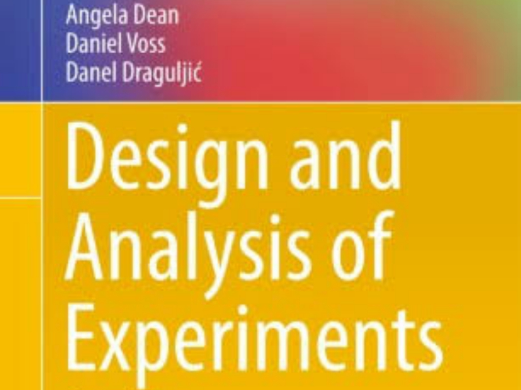 PDF(679 pages 4MB): Download Best Textbook For Design And Analysis Of Experiment