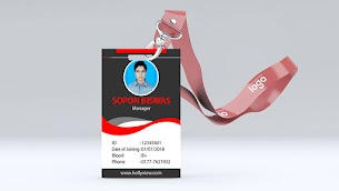 Hotel Manager 2 side  ID Card Design Ai Free Download