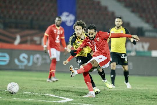 ملخص مباراة الأهلي والانتاج الحربي (4-1) في الدوري المصري