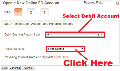 how to do fd in bank of baroda