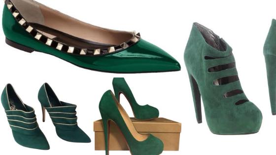 verde esmeralda sapatos