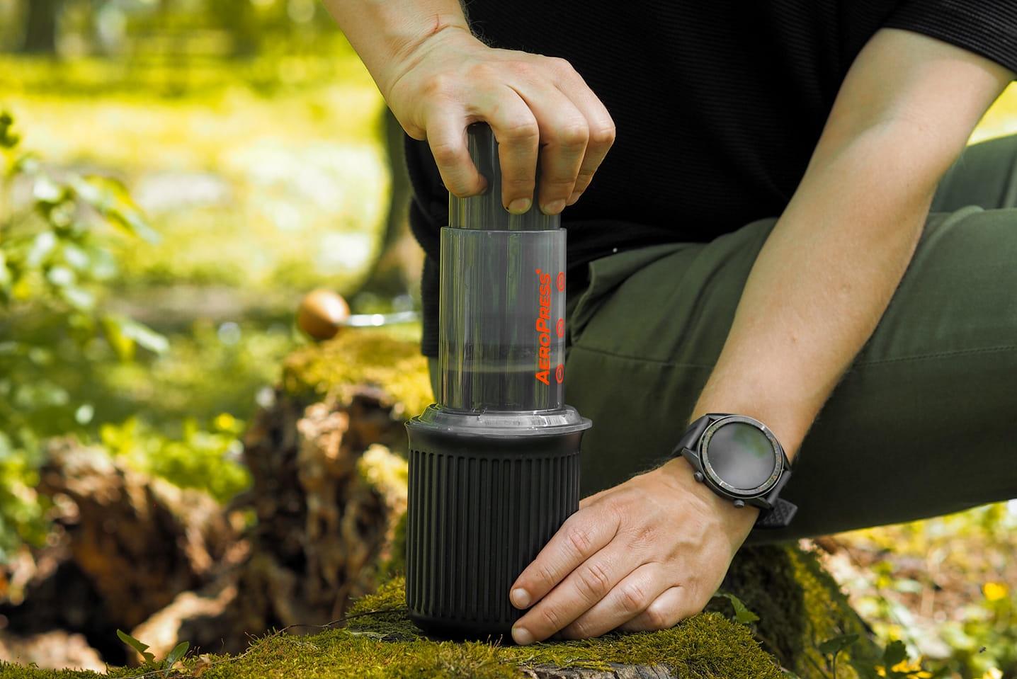Przygotowanie kawy w terenie