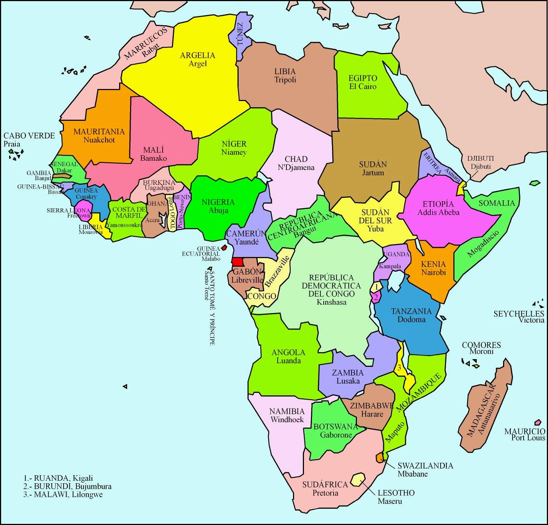 mapa de africa Mapas de África: mapas políticos, mapas en blanco, mapas curiosos mapa de africa