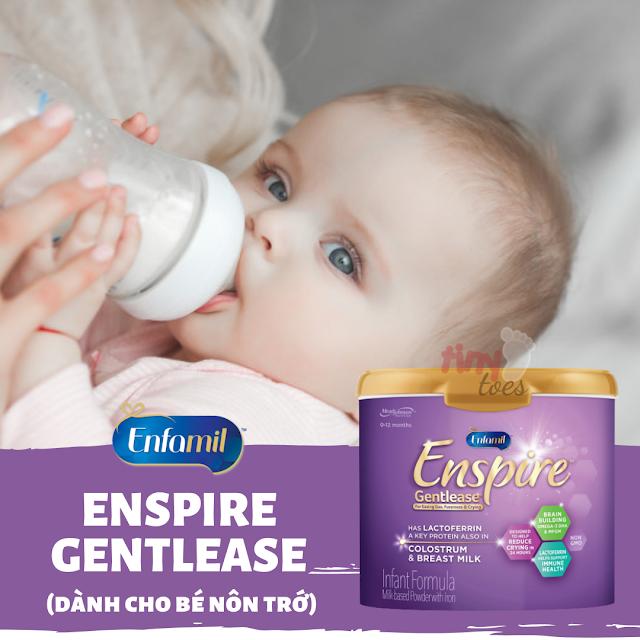 Hướng dẫn pha sữa Enfamil Enspire Gentlease