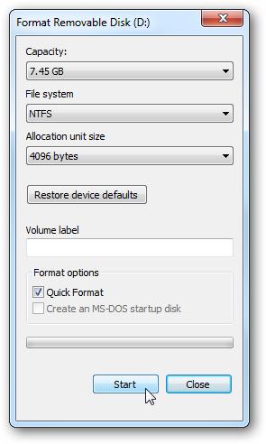 Format Removable Disk