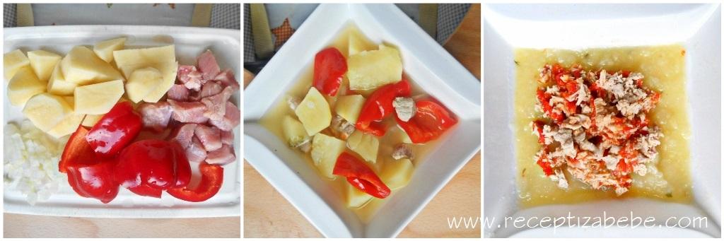 teletina, krompir i paprika za bebe