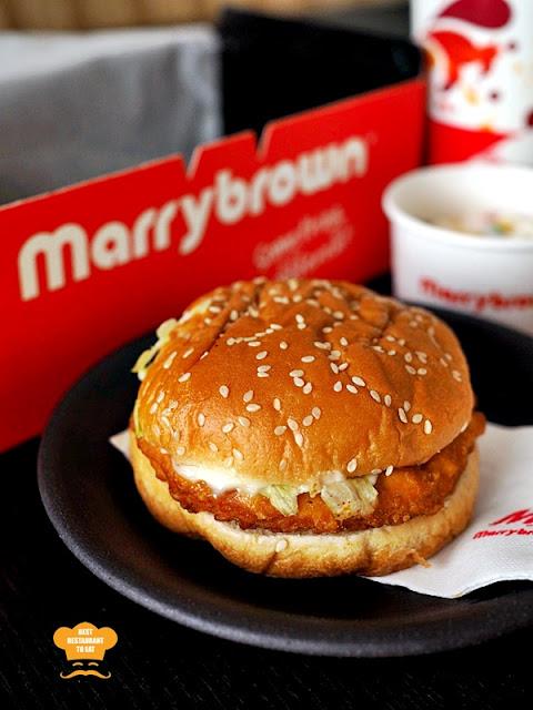 Marrybrown MB Mala Fried Chicken Burger