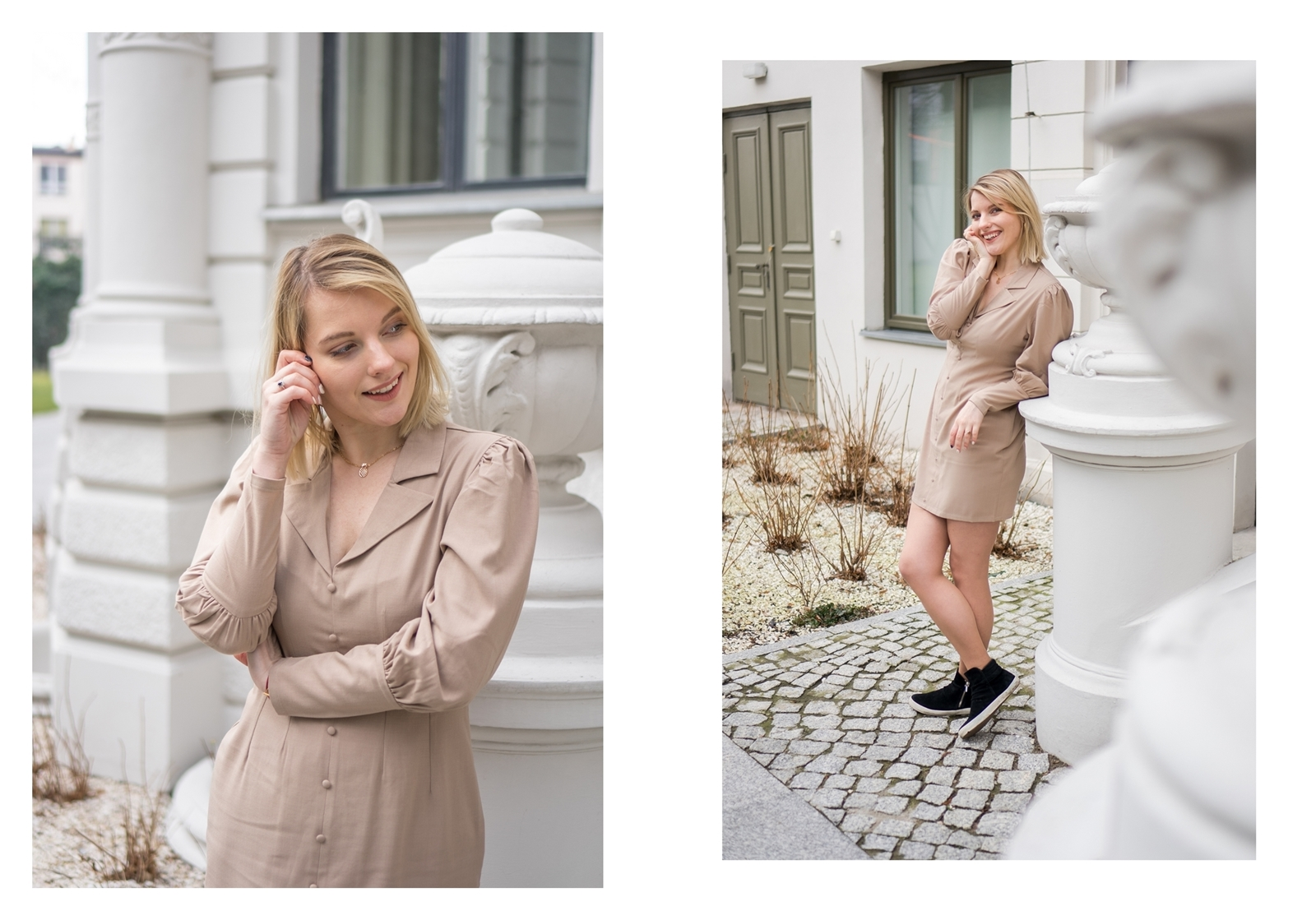 9a na-kd na kd lounge kod zniżkowy outlet rabat zakupy płaszcz na jesień kremowy sukienka modne stylizacje total look blog łódź fashion lifestyle